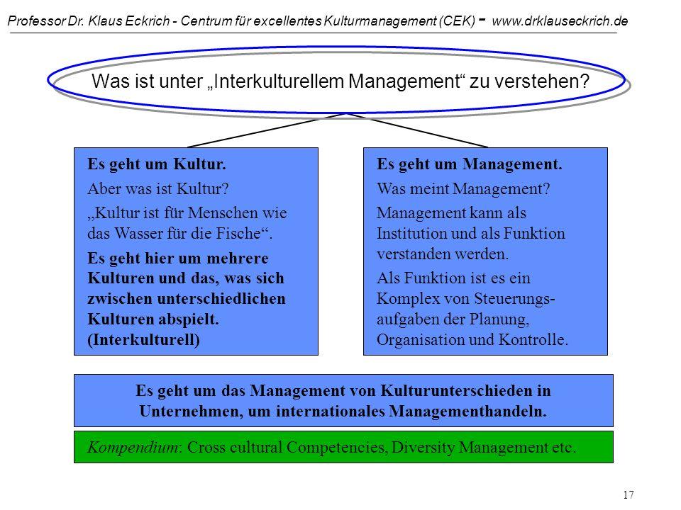 """Was ist unter """"Interkulturellem Management zu verstehen"""
