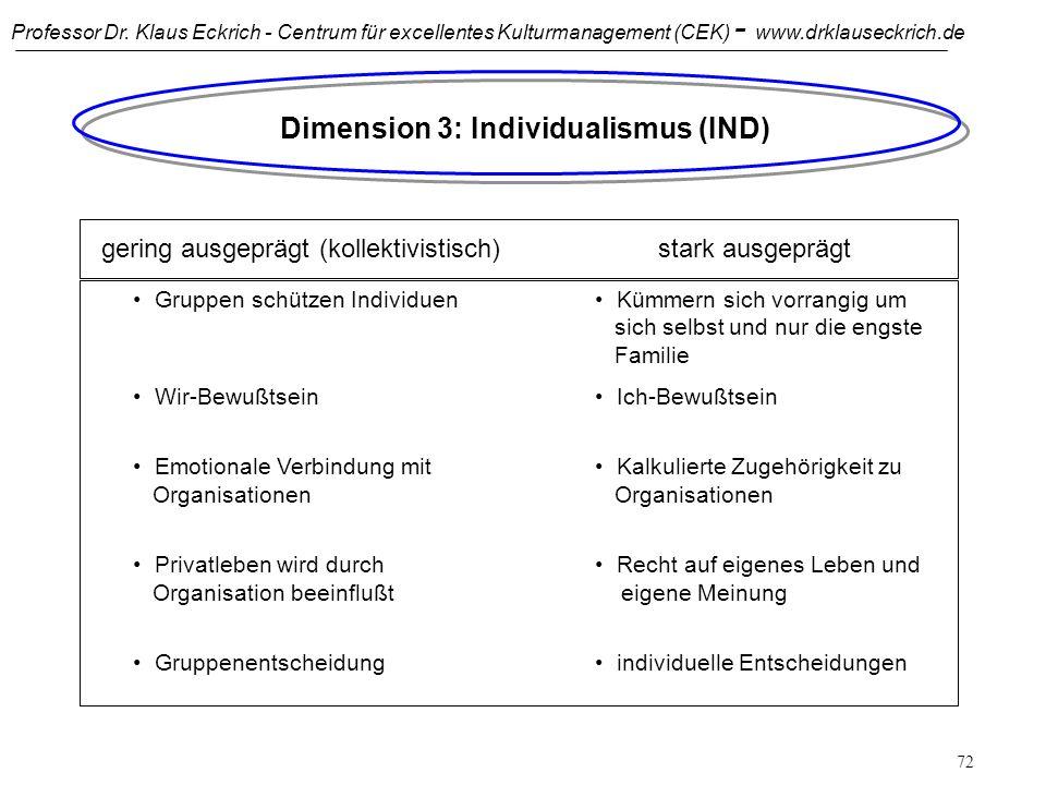 Dimension 3: Individualismus (IND)