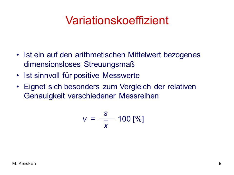 Variationskoeffizient