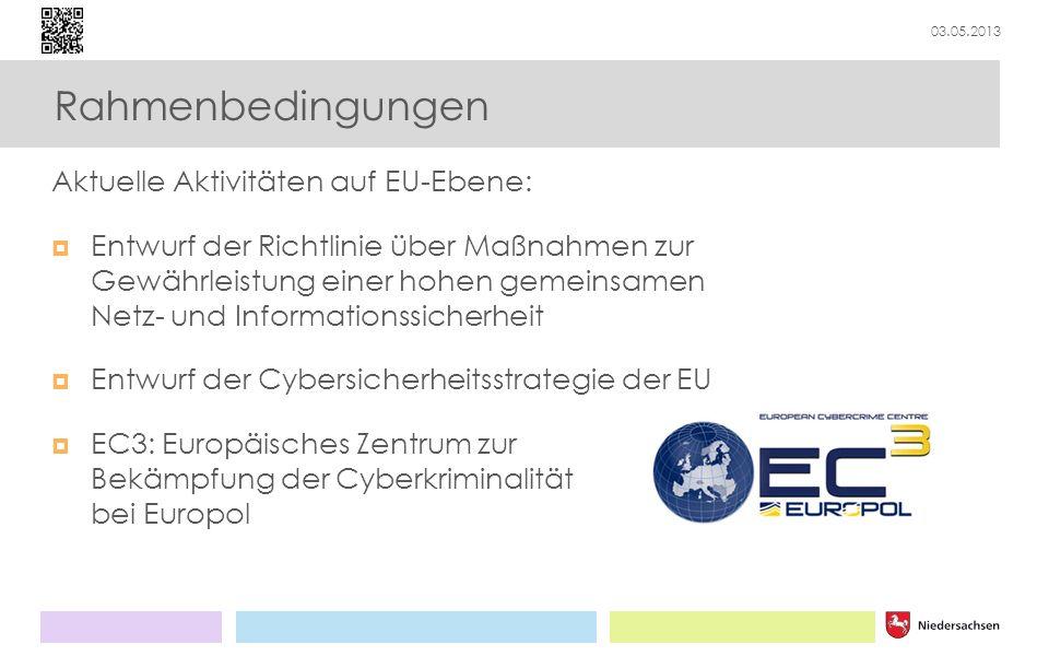 Rahmenbedingungen Aktuelle Aktivitäten auf EU-Ebene: