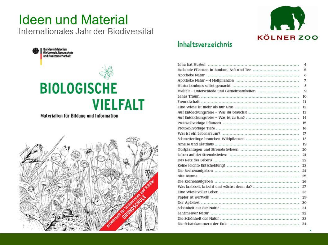 Ideen und Material Internationales Jahr der Biodiversität