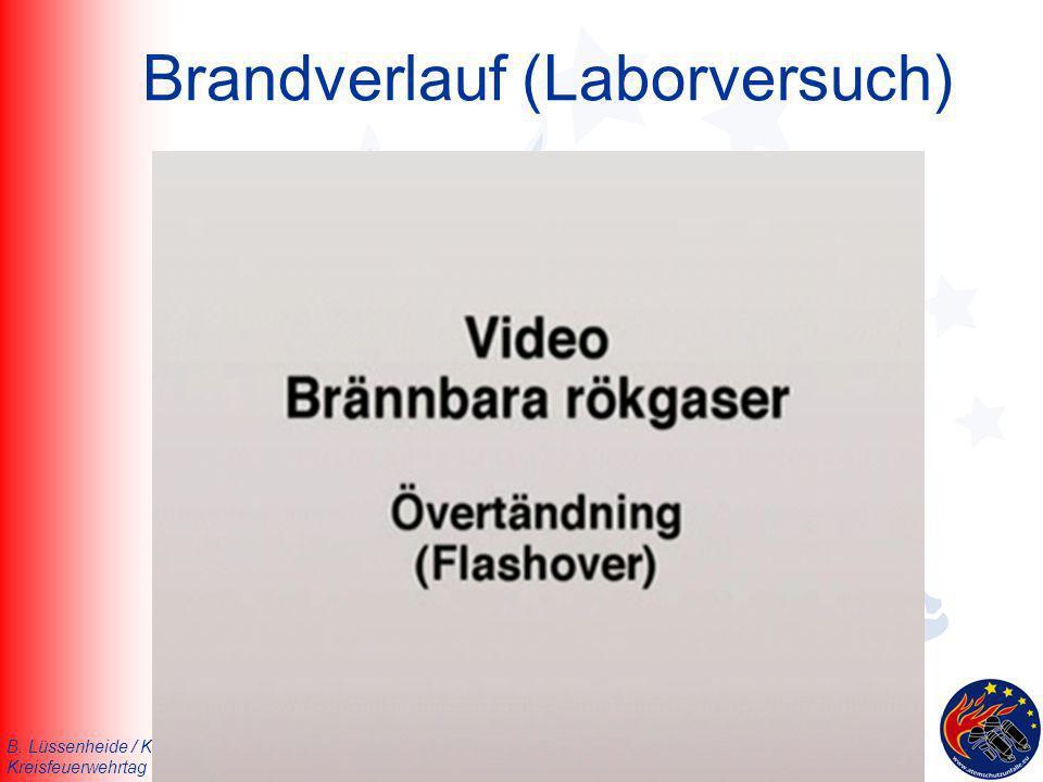 Brandverlauf (Laborversuch)