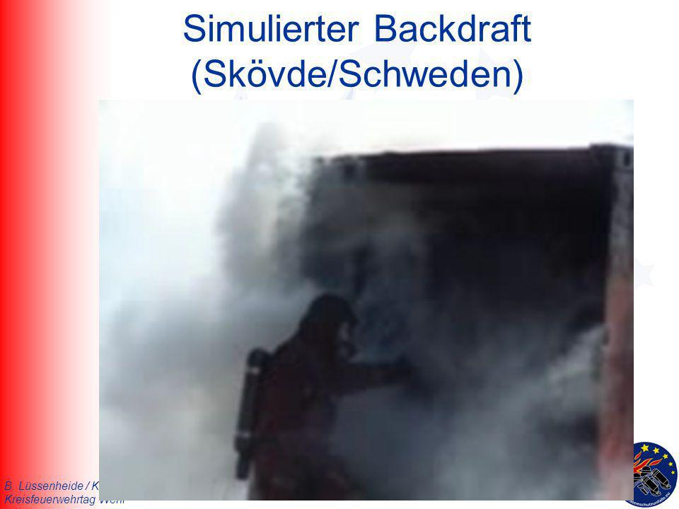 Simulierter Backdraft (Skövde/Schweden)