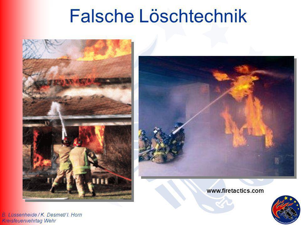 Falsche Löschtechnik www.firetactics.com