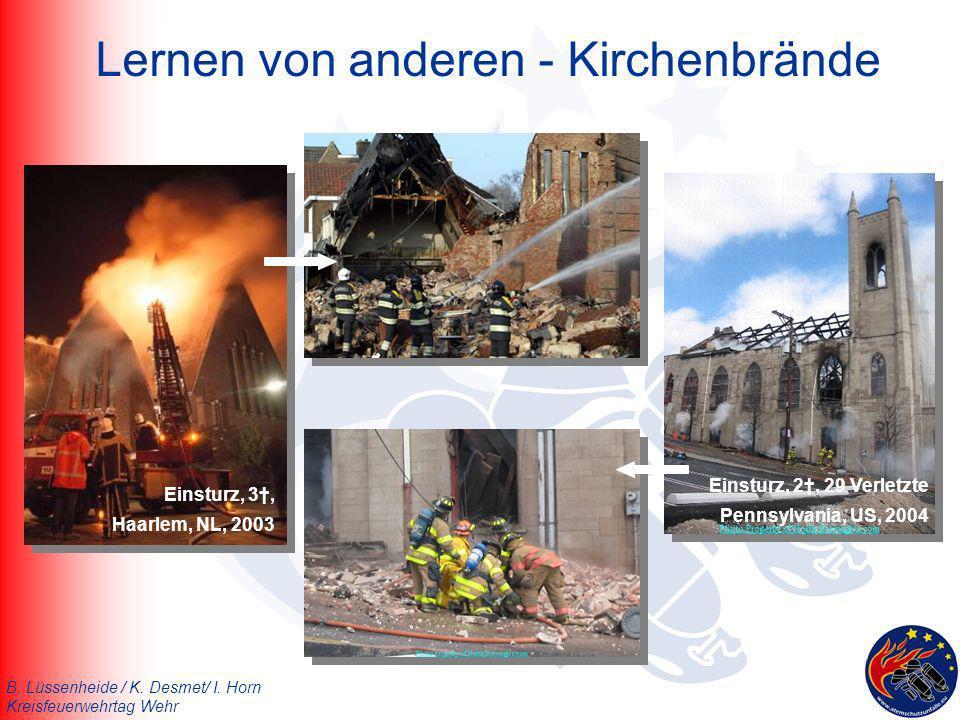 Lernen von anderen - Kirchenbrände