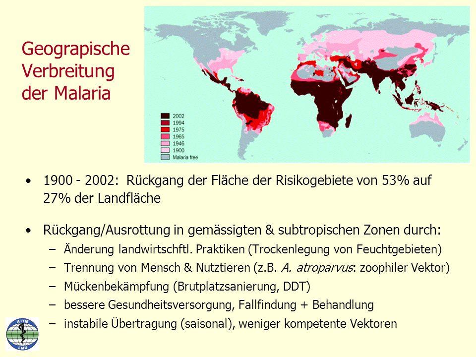 Geograpische Verbreitung der Malaria