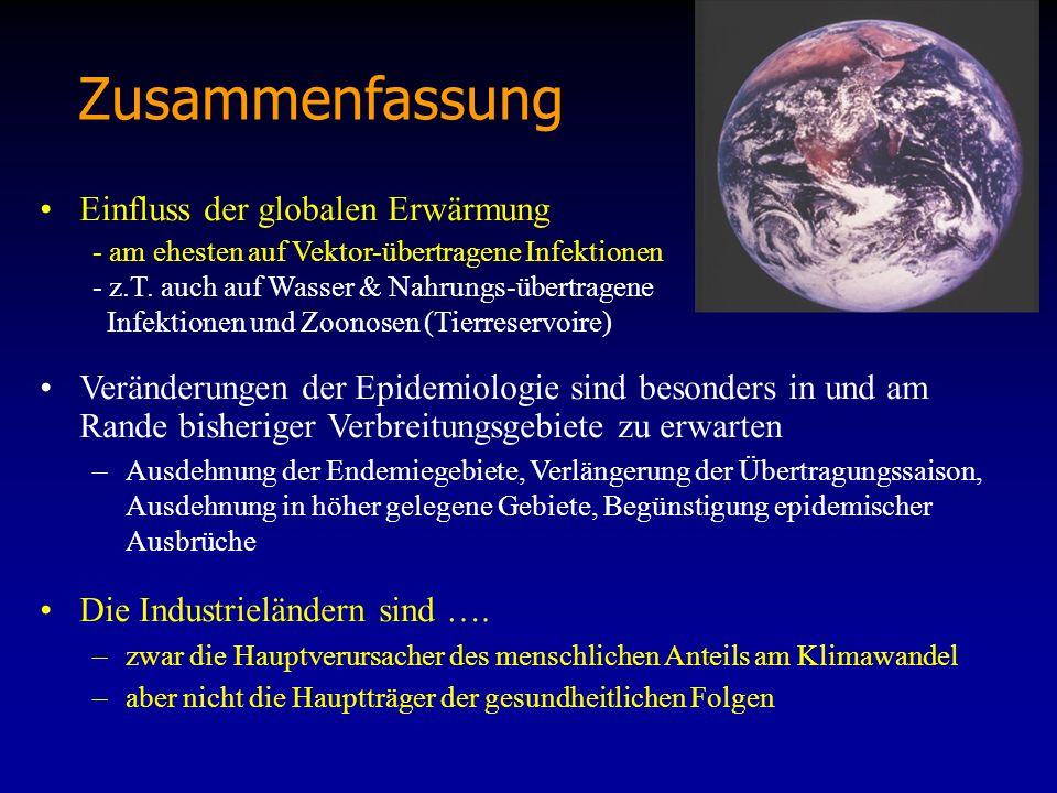 Zusammenfassung Einfluss der globalen Erwärmung