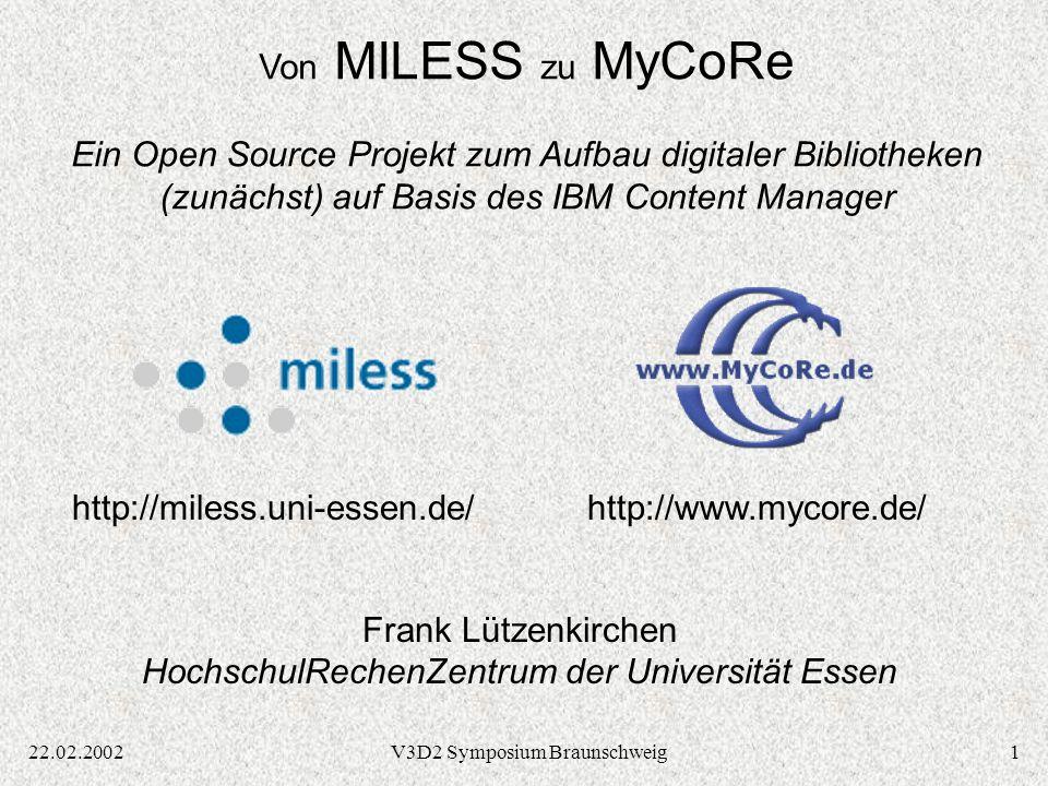 Frank Lützenkirchen HochschulRechenZentrum der Universität Essen
