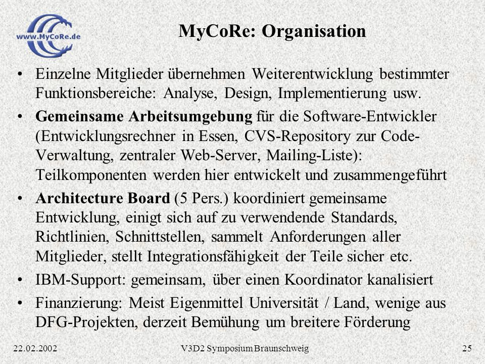 V3D2 Symposium Braunschweig