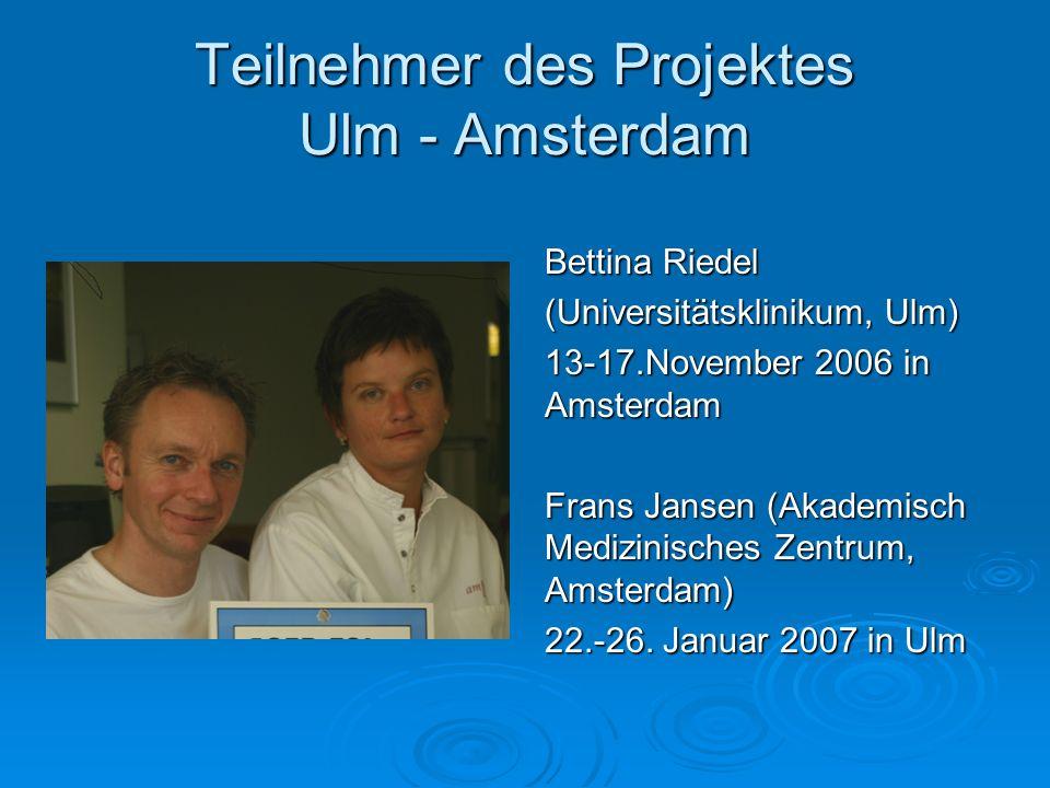 Teilnehmer des Projektes Ulm - Amsterdam