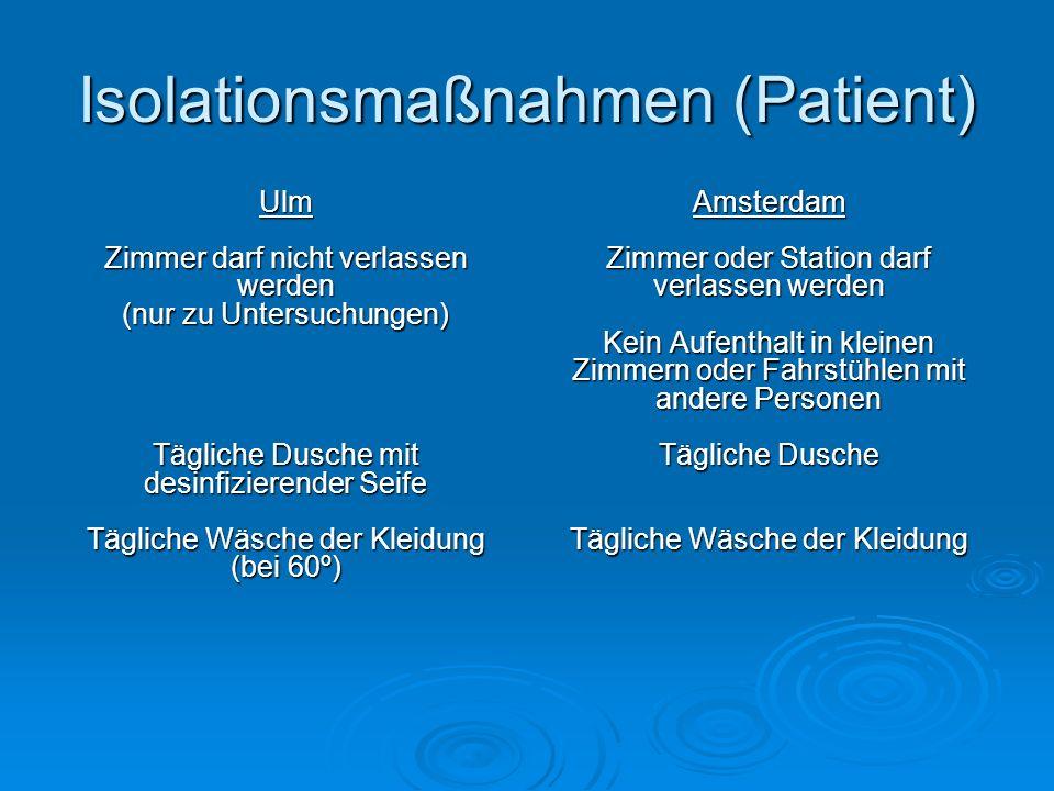 Isolationsmaßnahmen (Patient)