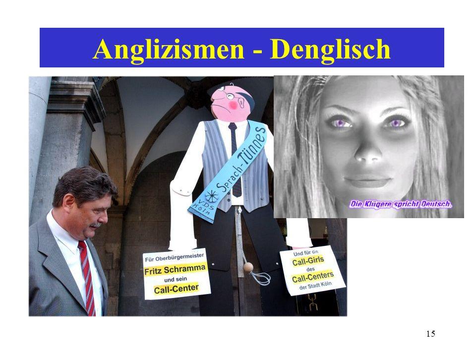 Anglizismen - Denglisch