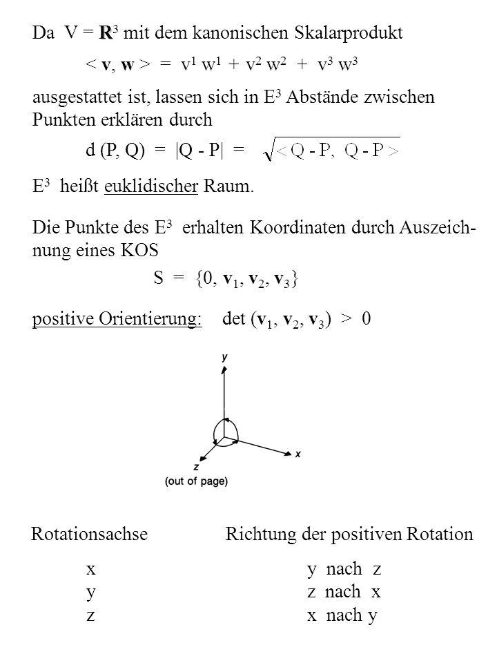 Da V = R3 mit dem kanonischen Skalarprodukt