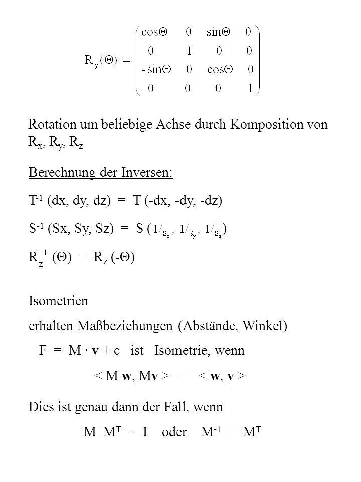 Rotation um beliebige Achse durch Komposition von