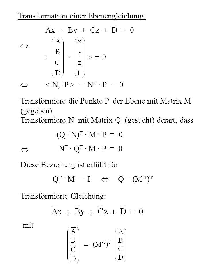 Transformation einer Ebenengleichung: