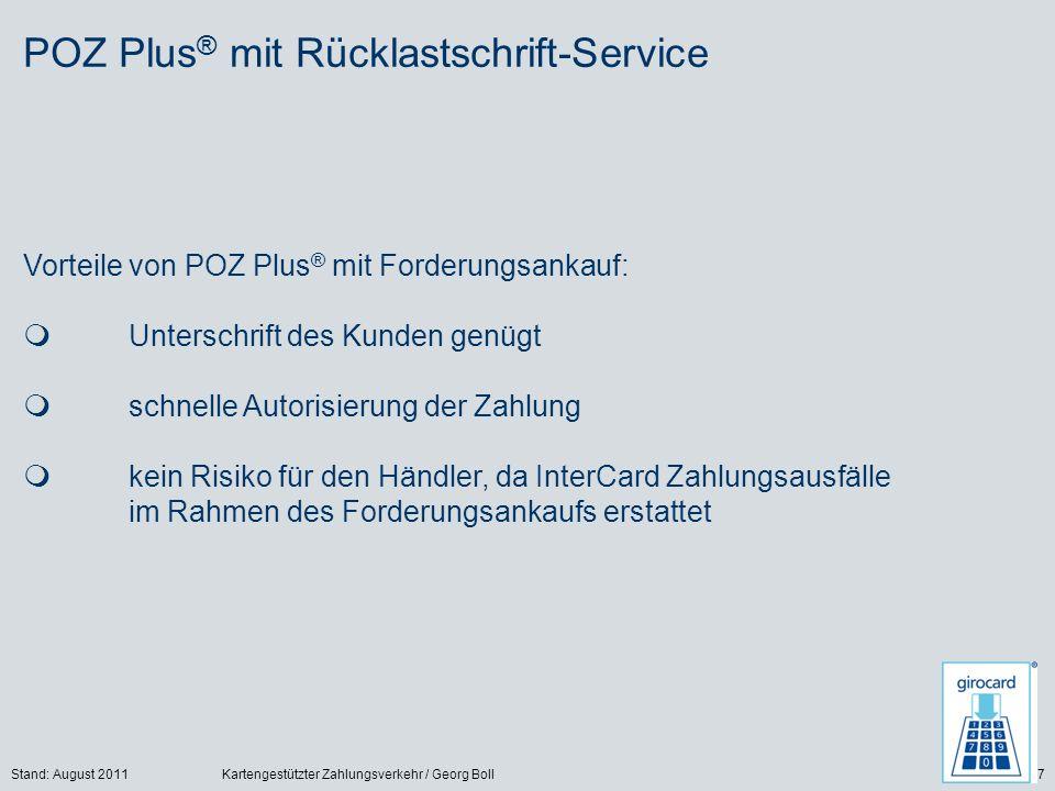 POZ Plus® mit Rücklastschrift-Service