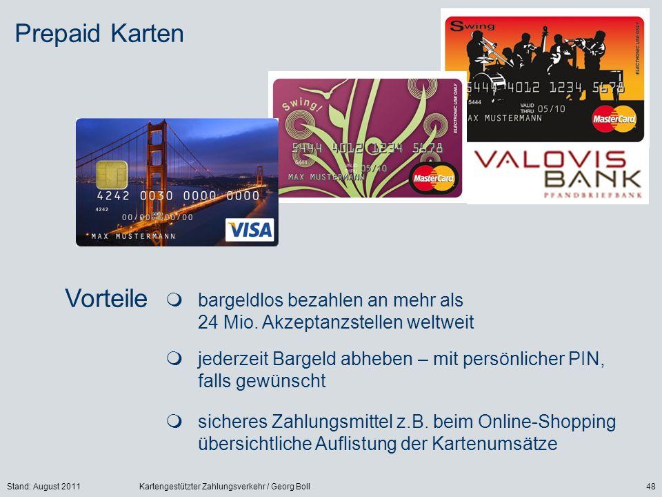 Prepaid Karten Vorteile