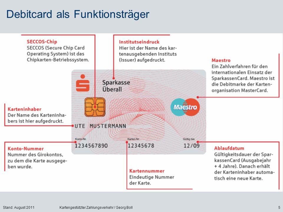 Debitcard als Funktionsträger