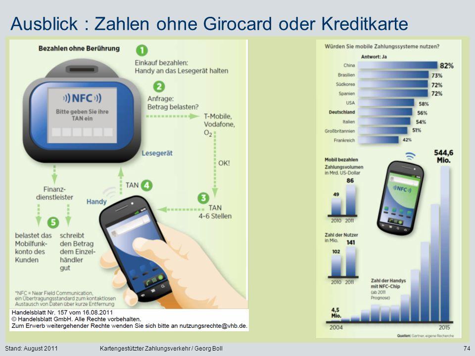 Ausblick : Zahlen ohne Girocard oder Kreditkarte