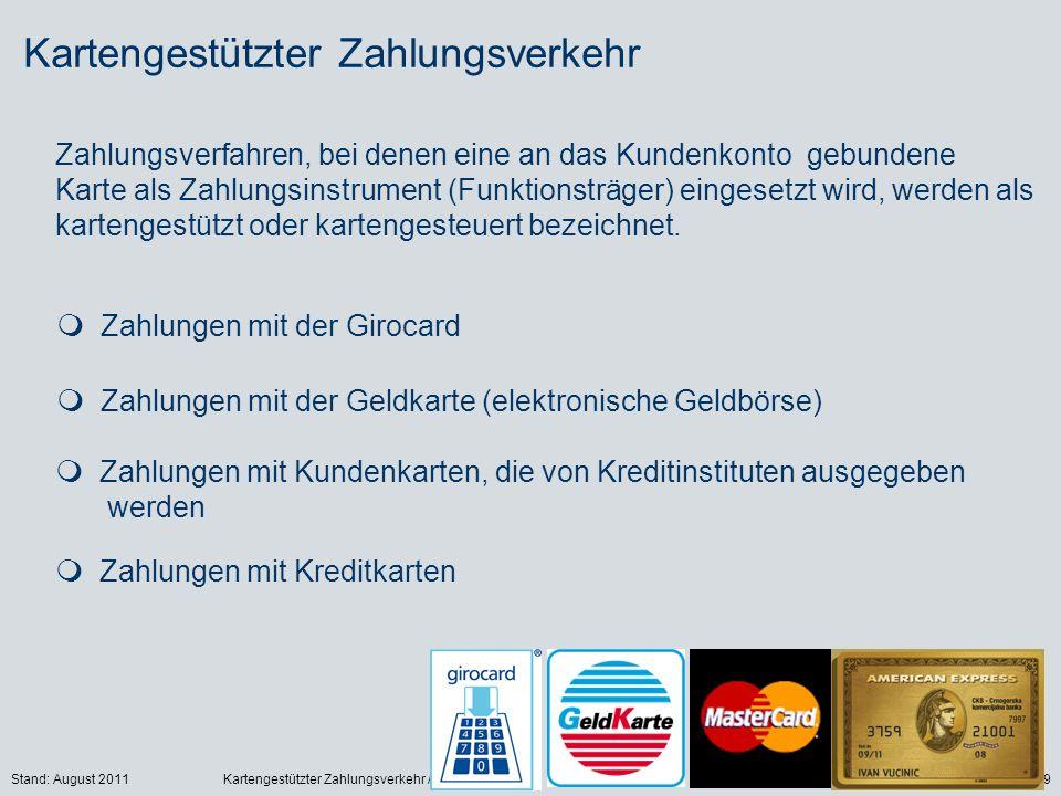 Kartengestützter Zahlungsverkehr