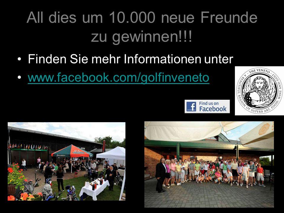 All dies um 10.000 neue Freunde zu gewinnen!!!