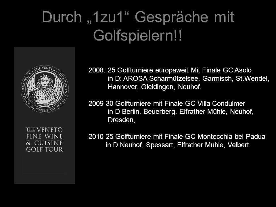 """Durch """"1zu1 Gespräche mit Golfspielern!!"""