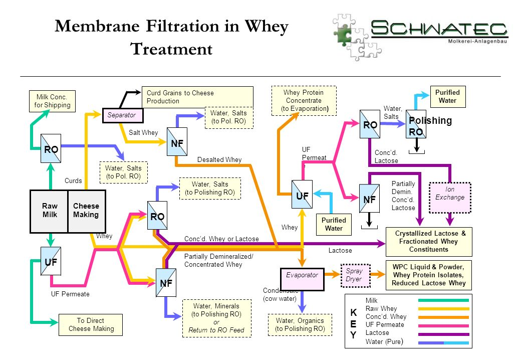 Membrane Filtration in Whey Treatment