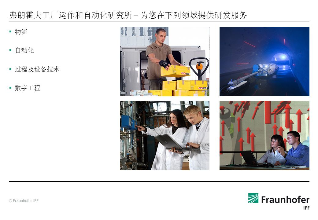 弗朗霍夫工厂运作和自动化研究所 – 为您在下列领域提供研发服务
