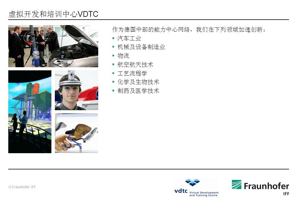虚拟开发和培训中心VDTC 作为德国中部的能力中心网络,我们在下列领域加速创新: 汽车工业 机械及设备制造业 物流 航空航天技术 工艺流程学