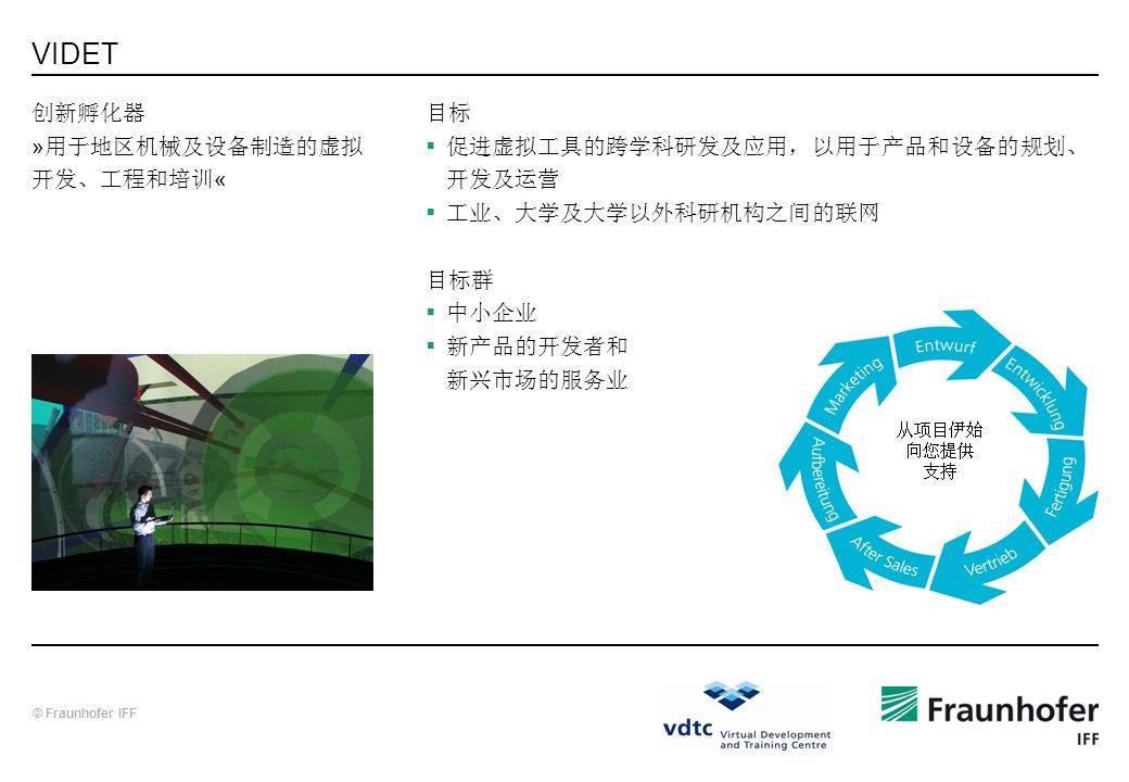 VIDET 创新孵化器 »用于地区机械及设备制造的虚拟开发、工程和培训« 目标