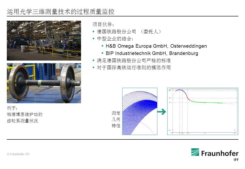 运用光学三维测量技术的过程质量监控 项目伙伴: 德国铁路股份公司 (委托人) 中型企业的结合: