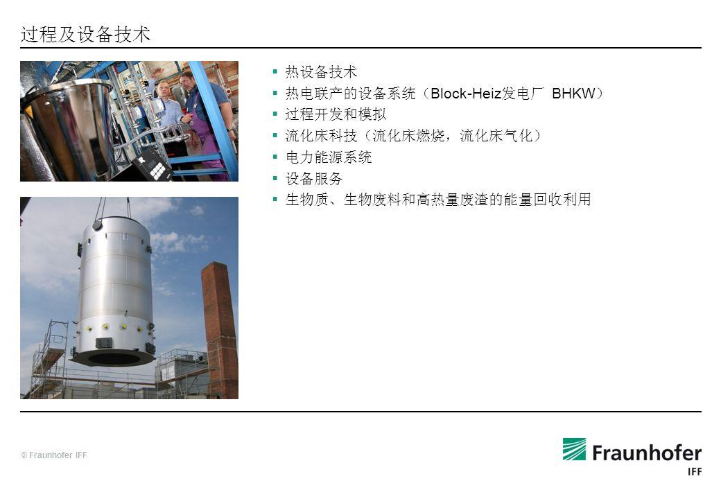 过程及设备技术 热设备技术 热电联产的设备系统(Block-Heiz发电厂 BHKW) 过程开发和模拟 流化床科技(流化床燃烧,流化床气化)
