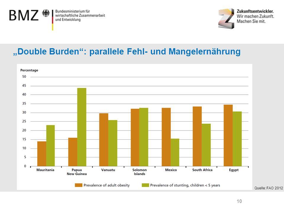 """""""Double Burden : parallele Fehl- und Mangelernährung"""