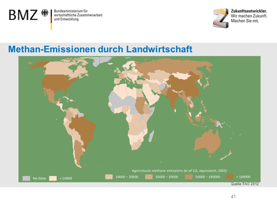 Methan-Emissionen durch Landwirtschaft