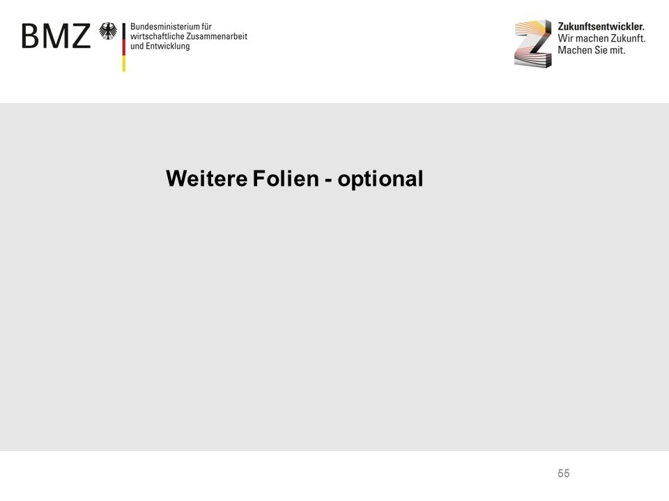 Weitere Folien - optional