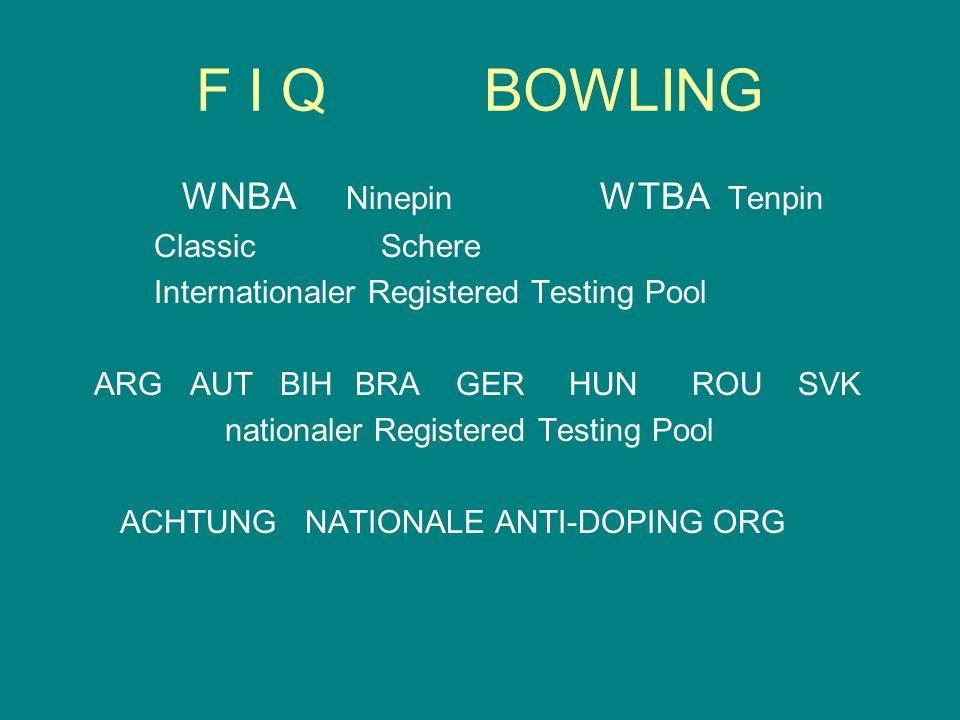 F I Q BOWLING WNBA Ninepin WTBA Tenpin Classic Schere