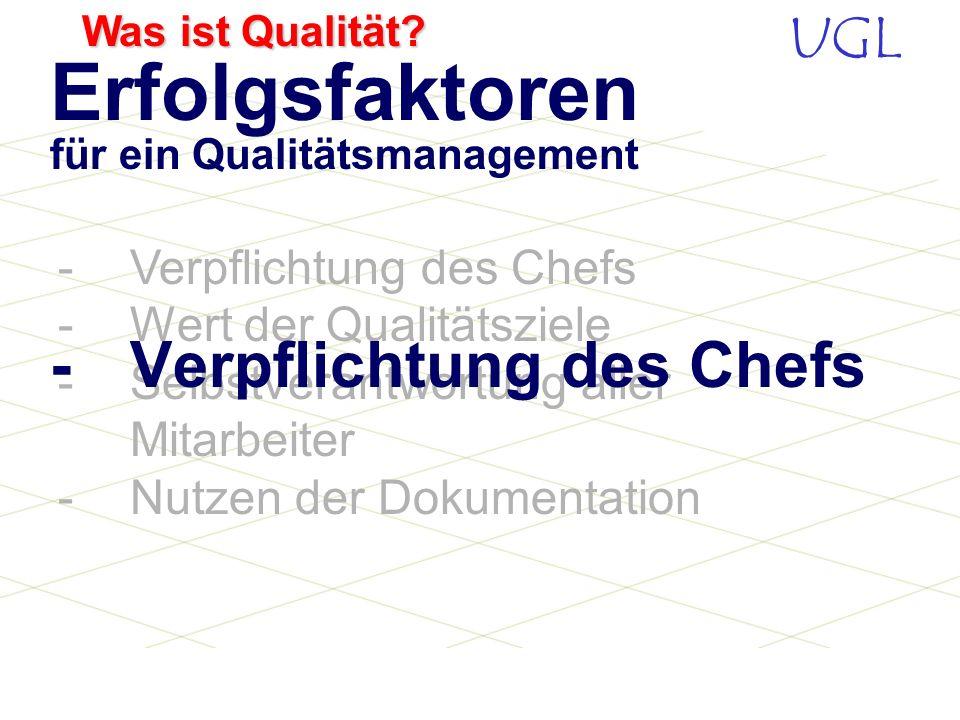 Erfolgsfaktoren für ein Qualitätsmanagement