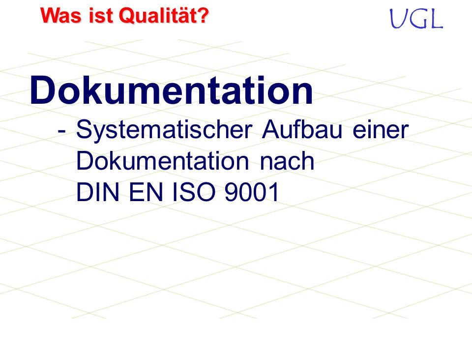 Dokumentation -. Systematischer Aufbau einer. Dokumentation nach