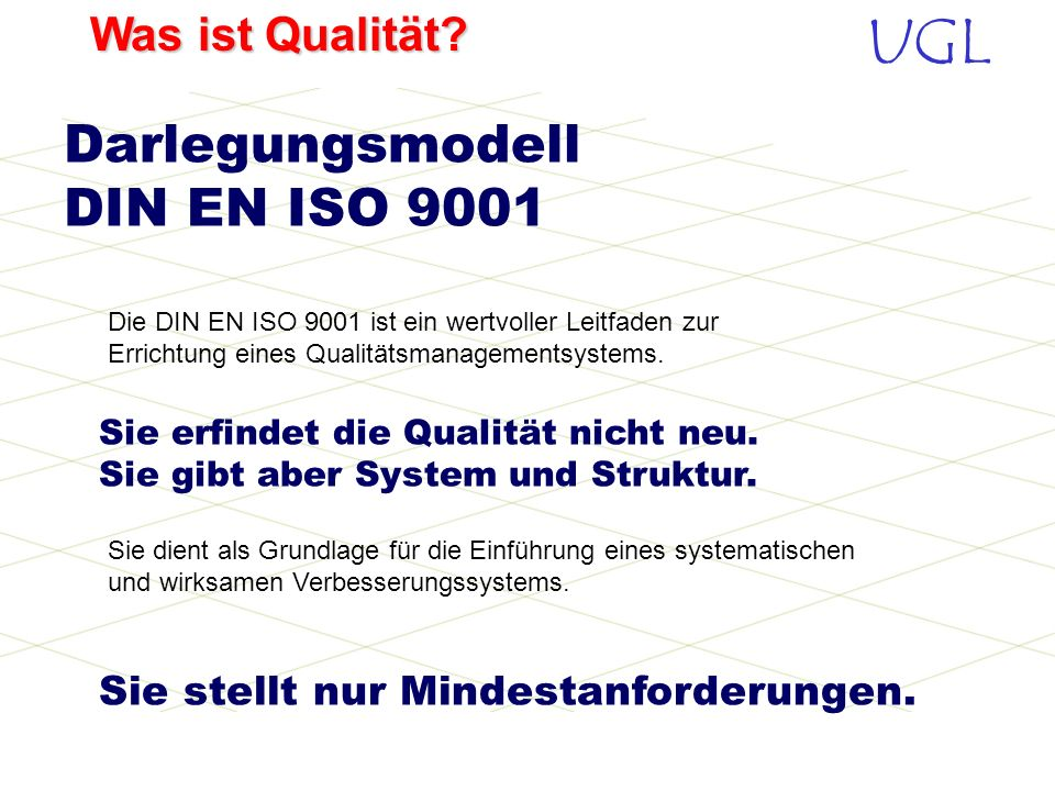 Darlegungsmodell DIN EN ISO 9001