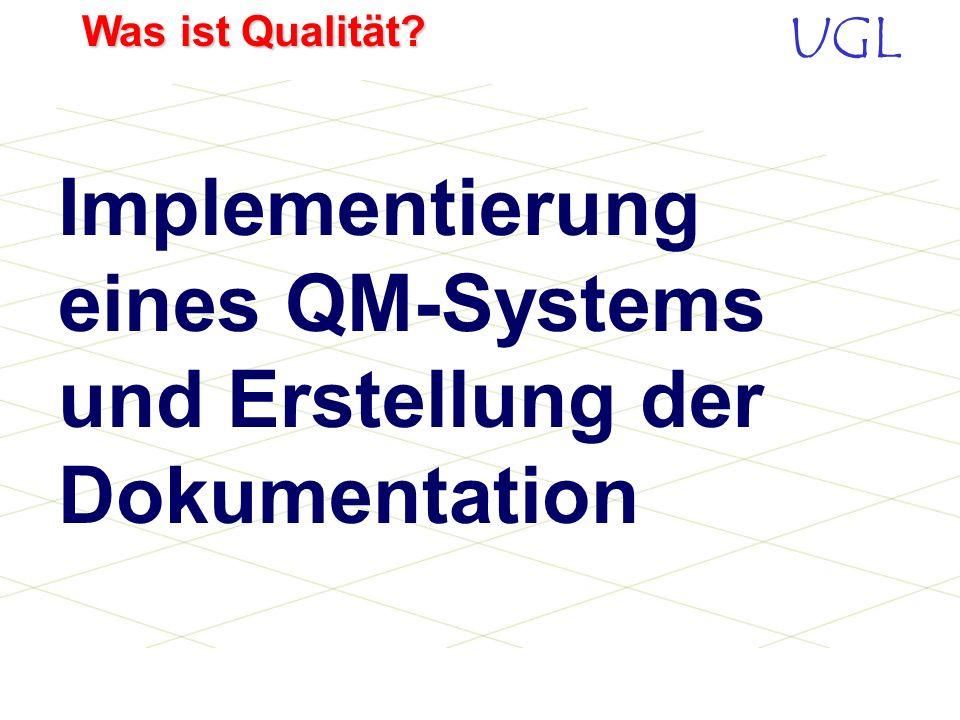 Implementierung eines QM-Systems und Erstellung der Dokumentation
