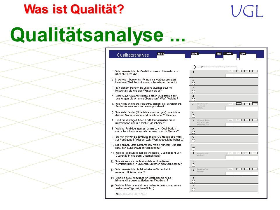 Qualitätsanalyse ...