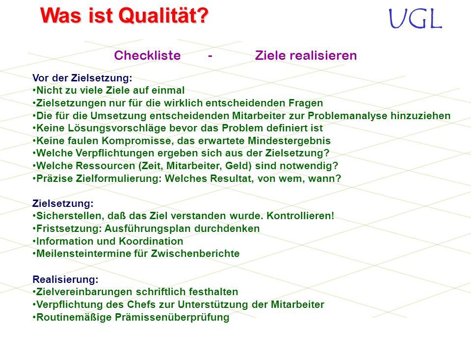 Checkliste - Ziele realisieren