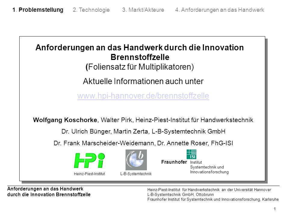 Aktuelle Informationen auch unter www.hpi-hannover.de/brennstoffzelle