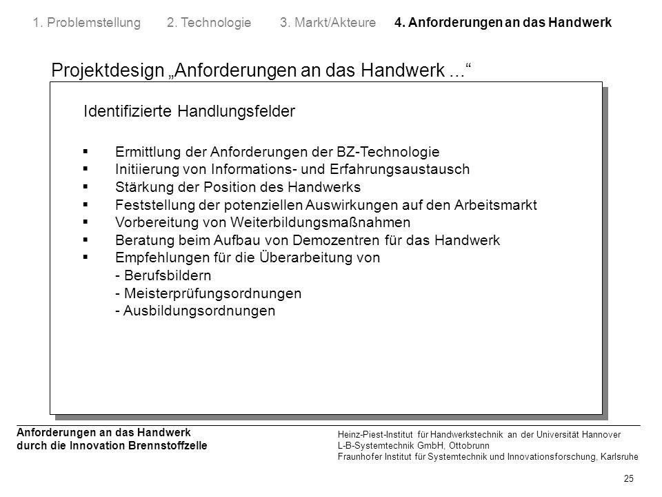 4. Anforderungen an das Handwerk
