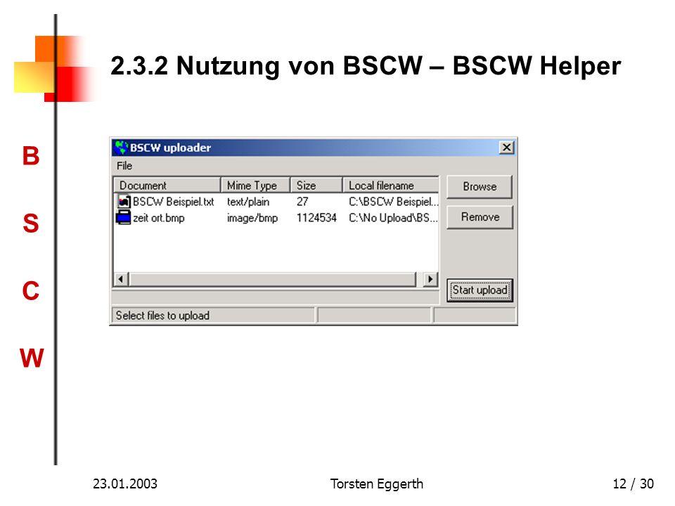 2.3.2 Nutzung von BSCW – BSCW Helper