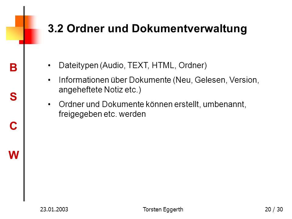 3.2 Ordner und Dokumentverwaltung