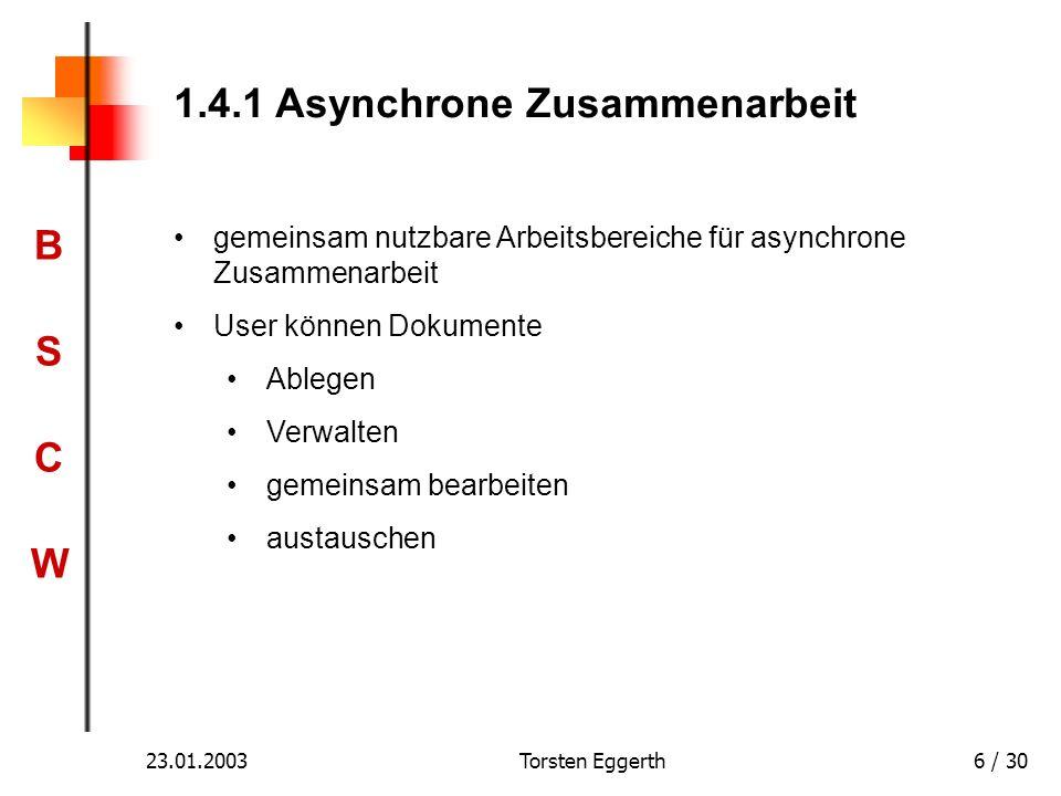 1.4.1 Asynchrone Zusammenarbeit
