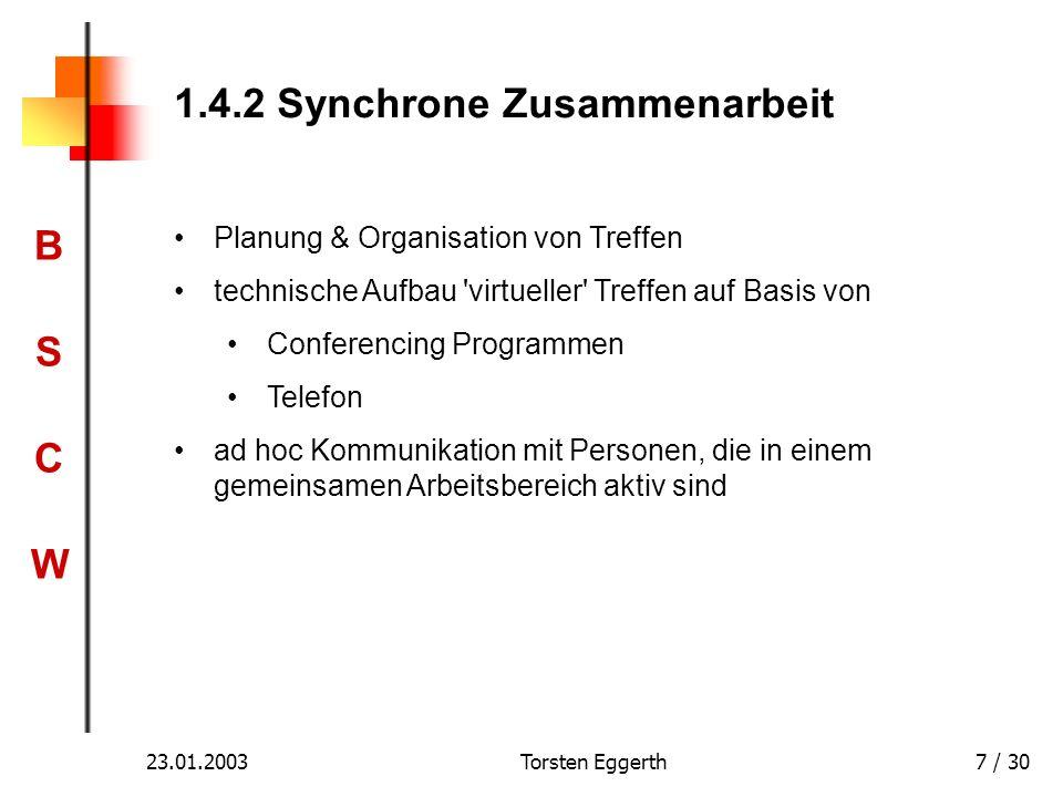 1.4.2 Synchrone Zusammenarbeit