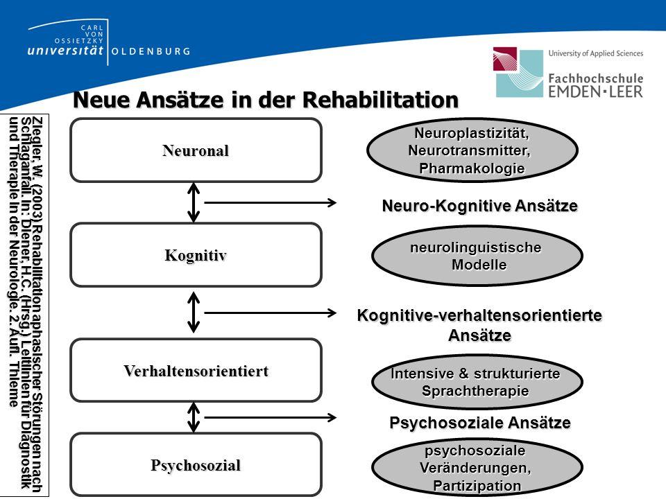 Neue Ansätze in der Rehabilitation