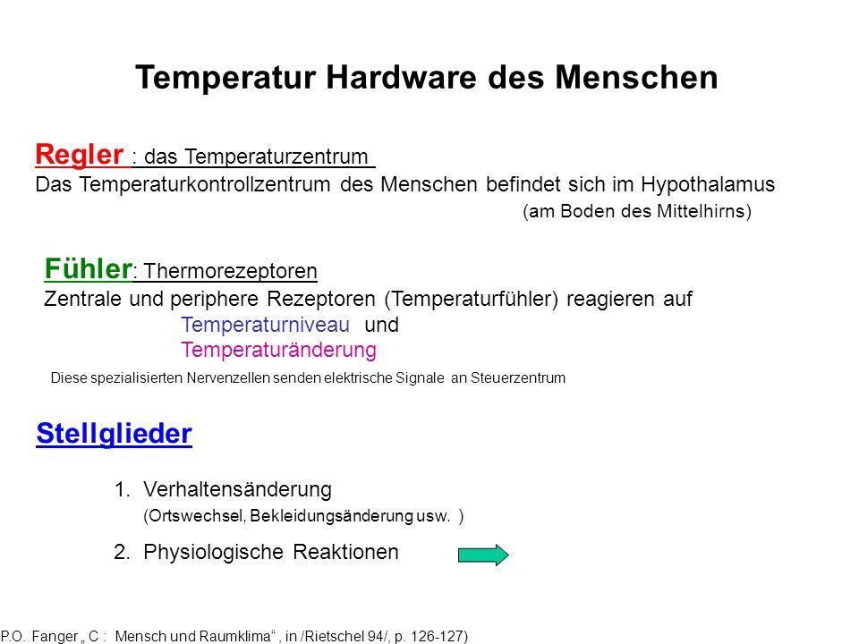 Temperatur Hardware des Menschen